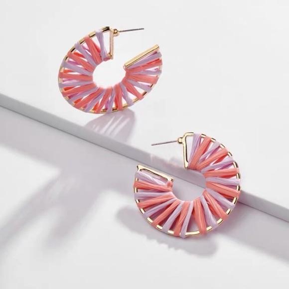 BaubleBar Jewelry - Baublebar raffia hoop earrings